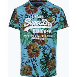 Superdry - T-shirt męski, niebieski. Niebieskie t-shirty męskie Superdry, l. Za 99,95 zł.