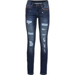 """Dżinsy SKINNY bonprix niebieski """"stone"""". Niebieskie jeansy damskie skinny marki House, z jeansu. Za 79,99 zł."""