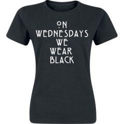 Bluzki asymetryczne: American Horror Story Wednesdays Koszulka damska czarny