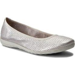 Baleriny CAPRICE - 9-22105-20 Silver Metal 920. Czarne baleriny damskie marki Caprice, z materiału. W wyprzedaży za 179,00 zł.