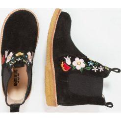 ANGULUS Botki black. Czarne buty zimowe damskie ANGULUS, z materiału. W wyprzedaży za 449,25 zł.