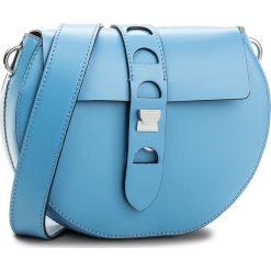 Torebka COCCINELLE - BO1 Carousel Design E1 BO1 55 C6 01 Azur 021. Niebieskie listonoszki damskie Coccinelle, w ażurowe wzory, ze skóry, na ramię. W wyprzedaży za 629,00 zł.