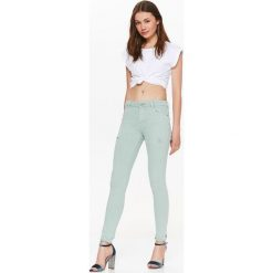Spodnie damskie: SPODNIE BAWEŁNIANE DAMSKIE Z PRZETARCIAMI, RURKI