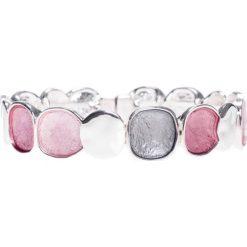Bransoletki damskie: Różowo-szara srebrna bransoletka QUIOSQUE