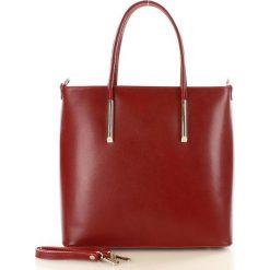 Shopper bag damskie: GABRIELLE Torebka włoska shopper skórzany MAZZINI czerwona