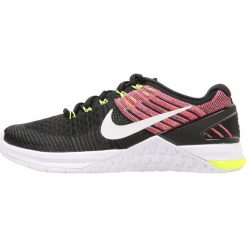 Buty do fitnessu damskie: Nike Performance METCON DSX FLYKNIT Obuwie treningowe black/white volt/chlorine blue