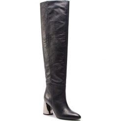 Muszkieterki GINO ROSSI - Harumi DKI089-BK8-0442-9900-T 99. Czarne buty zimowe damskie marki Gino Rossi, z materiału, na obcasie. W wyprzedaży za 699,00 zł.