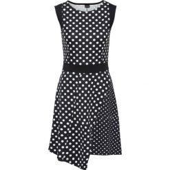 Sukienki asymetryczne: Sukienka z dżerseju w groszki bonprix czarno-biały w groszki