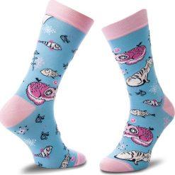 Skarpety Wysokie Unisex CUP OF SOX - Głodne Mruki F Kolorowy Niebieski. Czerwone skarpetki męskie marki Happy Socks, z bawełny. Za 24,00 zł.