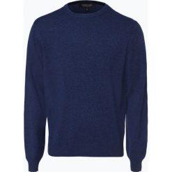 Andrew James - Sweter męski z czystego kaszmiru, niebieski. Niebieskie swetry klasyczne męskie Andrew James, m, z dzianiny. Za 549,95 zł.