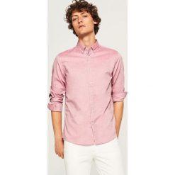Koszula z bawełny oxford slim fit - Czerwony. Czerwone koszule męskie slim marki Reserved, l, z bawełny. Za 99,99 zł.