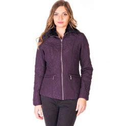 Kurtki damskie: Fioletowa kurtka z kołnierzykiem  QUIOSQUE