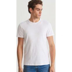 Gładki T-shirt - Biały. Białe t-shirty męskie Reserved, m. Za 49,99 zł.