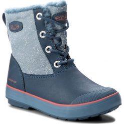Buty zimowe chłopięce: Śniegowce KEEN – Elsa Boot Wp 1017518 Captains Blue/Sugar Coral
