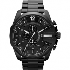 Zegarek DIESEL - Mega Chief DZ4283  Black/Black. Czarne zegarki męskie Diesel. Za 1099,00 zł.
