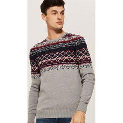 Wzorzysty sweter - Szary. Szare swetry klasyczne męskie marki House, l. Za 99,99 zł.