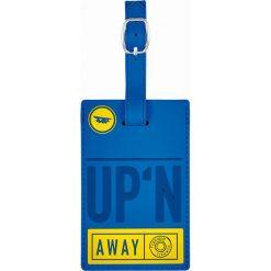 Walizki: Zawieszka w kolorze niebieskim do walizki – 11 x 7 cm