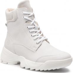 Trapery TAMARIS - 1-25710-31 White 100. Szare buty zimowe damskie marki Tamaris, z materiału. Za 349,90 zł.