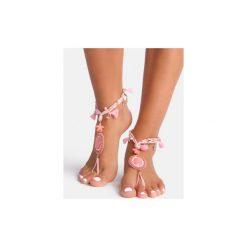 Bransoletki damskie: Różowa bransoletka na stopę Sea Star