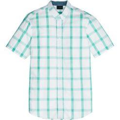 Koszula z krótkim rękawem w kratę Regular Fit bonprix zielony miętowy - biały w kratę. Białe koszule męskie marki bonprix, z klasycznym kołnierzykiem, z długim rękawem. Za 74,99 zł.