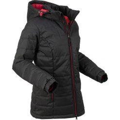 Kurtka pikowana bonprix czarny melanż. Niebieskie kurtki damskie pikowane marki bonprix, z nadrukiem. Za 239,99 zł.