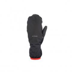 Rękawiczki trekkingowe górskie Trek 500. Czarne rękawiczki damskie marki FORCLAZ, na zimę, z materiału. Za 39,99 zł.
