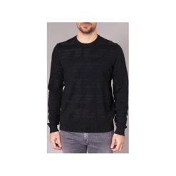 Swetry Emporio Armani  NARRABOLE. Czarne swetry klasyczne męskie Emporio Armani, l. Za 524,30 zł.