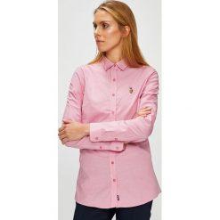 U.S. Polo - Koszula. Szare koszule damskie w kratkę marki U.S. Polo, m, z bawełny, casualowe, z klasycznym kołnierzykiem, z długim rękawem. W wyprzedaży za 299,90 zł.