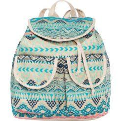 Plecak bonprix turkusowo-kolorowy. Niebieskie plecaki damskie bonprix, w kolorowe wzory, z bawełny. Za 59,99 zł.