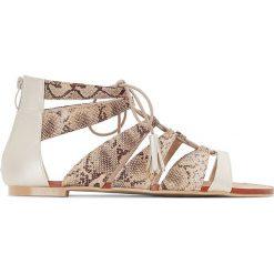 Rzymianki damskie: Dwukolorowe sandały na szeroka stopę 38-45