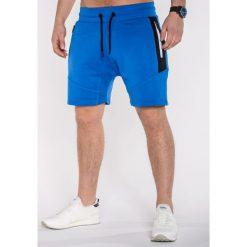 KRÓTKIE SPODENKI MĘSKIE DRESOWE P514 - NIEBIESKIE. Niebieskie bermudy męskie Ombre Clothing, z bawełny. Za 39,20 zł.