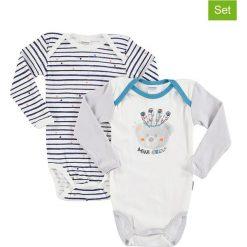 Body niemowlęce: Body (2 szt.) w kolorze biało-granatowym