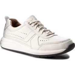 Półbuty CLARKS - Un Coast Form 261332487 White Leather. Białe półbuty skórzane męskie Clarks. W wyprzedaży za 259,00 zł.