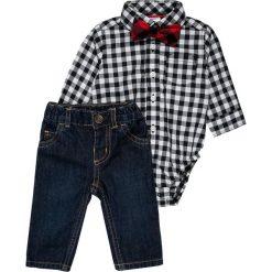 Carter's BOY HOLIDAY CHECK BOWTIE PANT BABY SET  Jeansy Straight Leg denim. Niebieskie spodnie chłopięce Carter's. Za 149,00 zł.