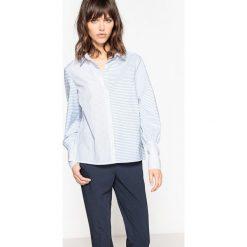 Bluzki damskie: Bluzka w paski, długi mankiet