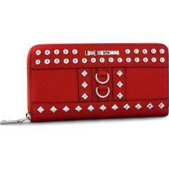 Duży Portfel Damski LOVE MOSCHINO - JC5595PP06KV0500 Rosso. Czerwone portfele damskie marki Love Moschino, ze skóry ekologicznej. Za 479,00 zł.