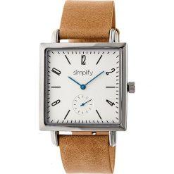 """Zegarki męskie: Zegarek kwarcowy """"the 5000"""" w kolorze jasnobrązowo-srebrno-białym"""