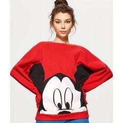 Bluzy damskie: Bluza oversize mickey mouse – Czerwony