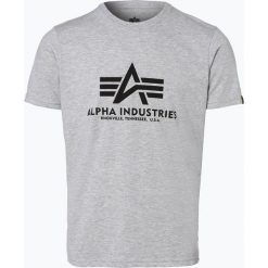 T-shirty męskie z nadrukiem: Alpha Industries – T-shirt męski, szary