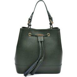 Torebki klasyczne damskie: Skórzana torebka w kolorze zielonym – (S)27 x (W)29 x (G)17,5 cm