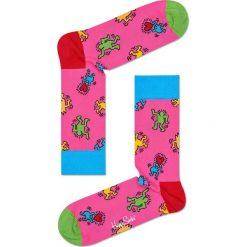 Happy Socks - Skarpety Keith Haring Dancing. Różowe skarpetki męskie Happy Socks, z bawełny. W wyprzedaży za 34,90 zł.