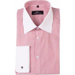 Koszula VITTORE slim 14-01-08. Białe koszule męskie na spinki Giacomo Conti, m, w paski, z bawełny, z klasycznym kołnierzykiem, z długim rękawem. Za 199,00 zł.