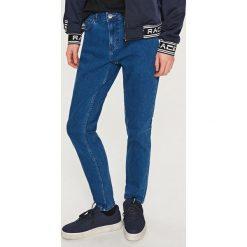 Rurki męskie: Klasyczne jeansy slim fit - Granatowy