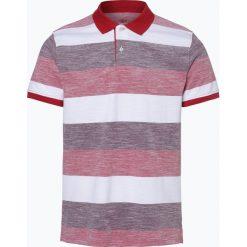 Nils Sundström - Męska koszulka polo, czerwony. Czerwone koszulki polo Nils Sundström, m, w paski, z bawełny. Za 49,95 zł.