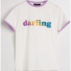 T-shirt Darling - Kremowy. Białe t-shirty damskie marki Adidas, m. Za 39,99 zł.