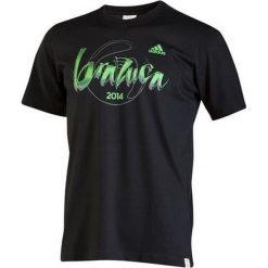 T-shirty męskie: Adidas T-shirt Adidas Brazuca Tee F77043  czarne S