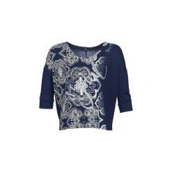 Swetry Desigual  NISSA. Niebieskie swetry klasyczne damskie Desigual, l. Za 259,00 zł.