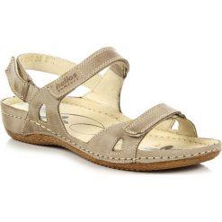 Rzymianki damskie: HELIOS 205 skórzane beżowe sandały komfortowe