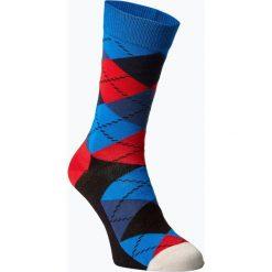 Happy Socks - Skarpety męskie, niebieski. Niebieskie skarpetki męskie Happy Socks, w kolorowe wzory, z bawełny. Za 39,95 zł.