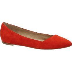 Baleriny damskie lakierowane: baleriny damskie 5th Avenue czerwone